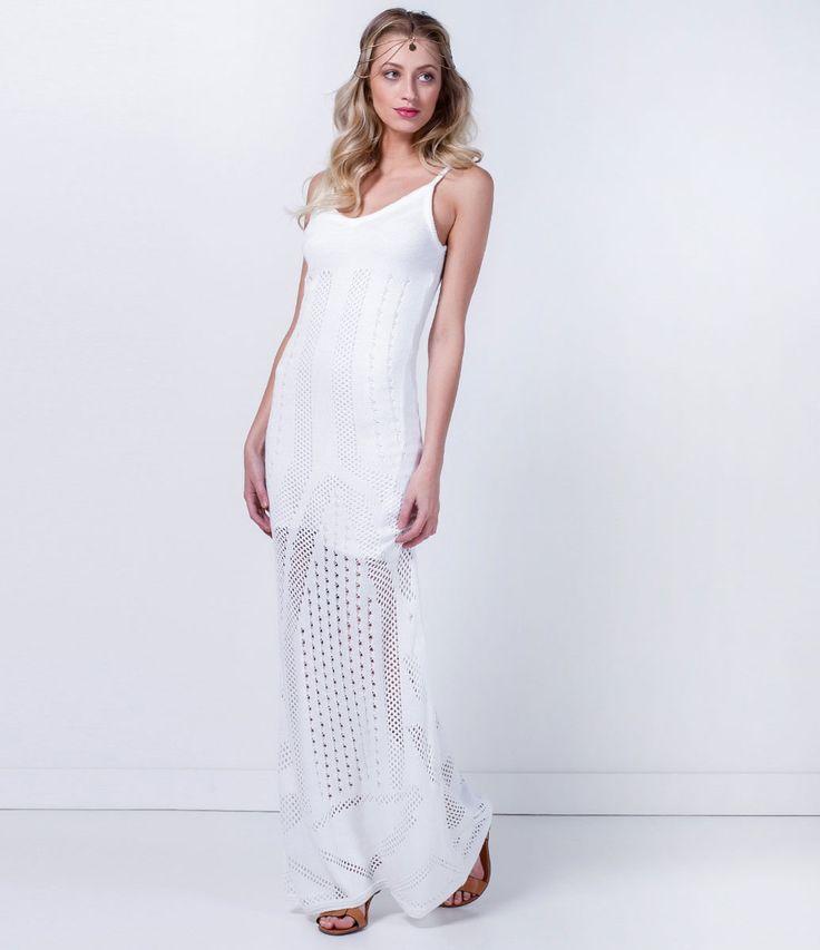 Vestido longo croche