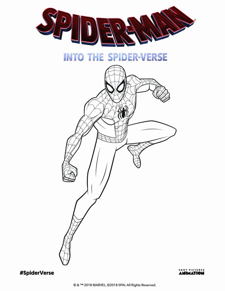 32 Miles Morales Coloring Page in 2020 Coloring pages