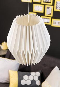 Fabriquer un abat-jour #origami | #DIY #Déco