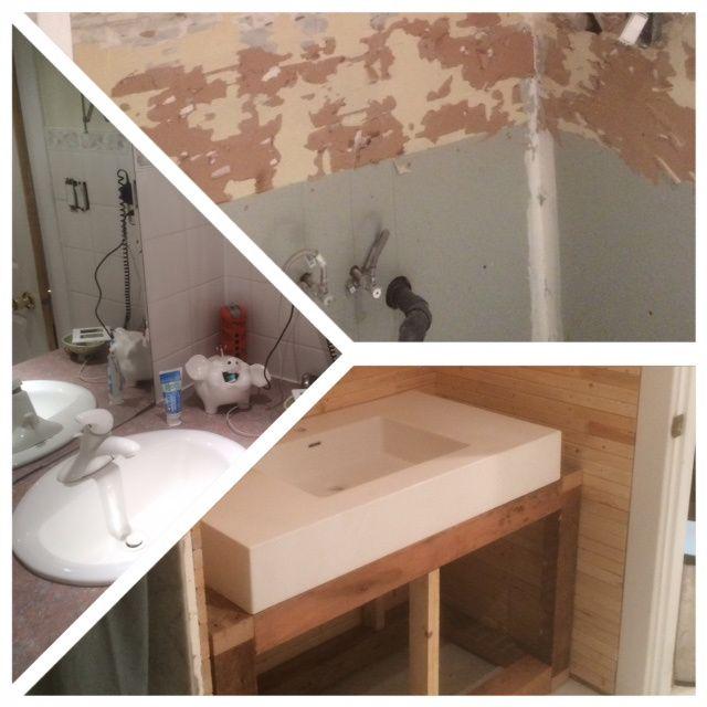 The white swan sink Before/After from bothwellfarringtondesign.com #bathroom #diy #bfd