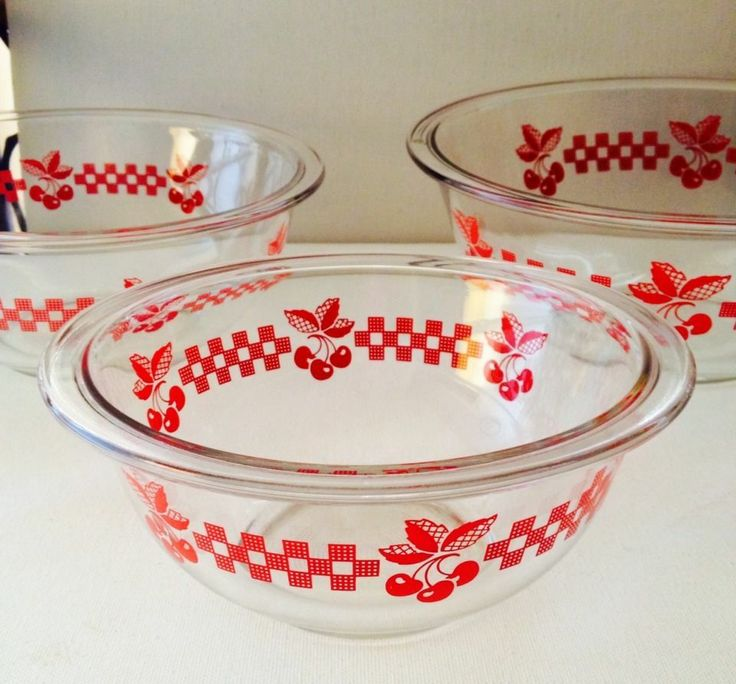 Vintage Kitchen Bowls: 31 Best Retro 50's Kitchen Red & White Checked Images On