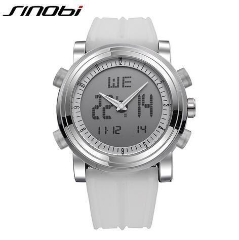 SINOBI Watches Men Top Brand Luxury Clock Chronograph Waterproof Sports Watch For Men Relogio Masculino Silicone Wrist Watch Hot