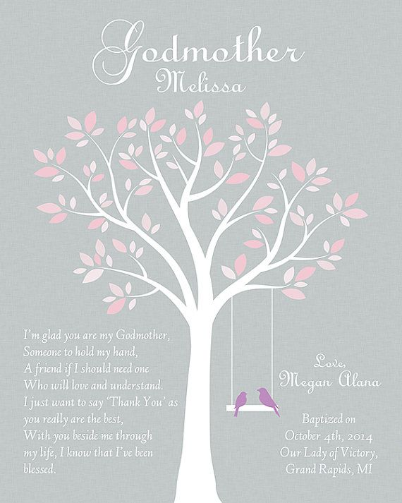 Personalized Godmother Gift Godmother Gifts by GoldHousePrints