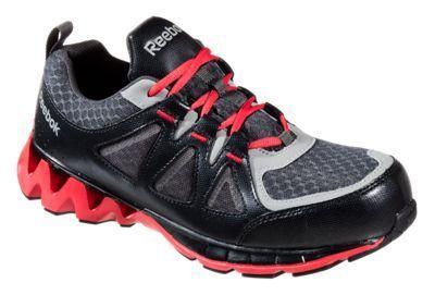 Reebok ZigKick Work Dual Resistor Composite Toe Work Shoes for Men - Black/Red - 11.5M