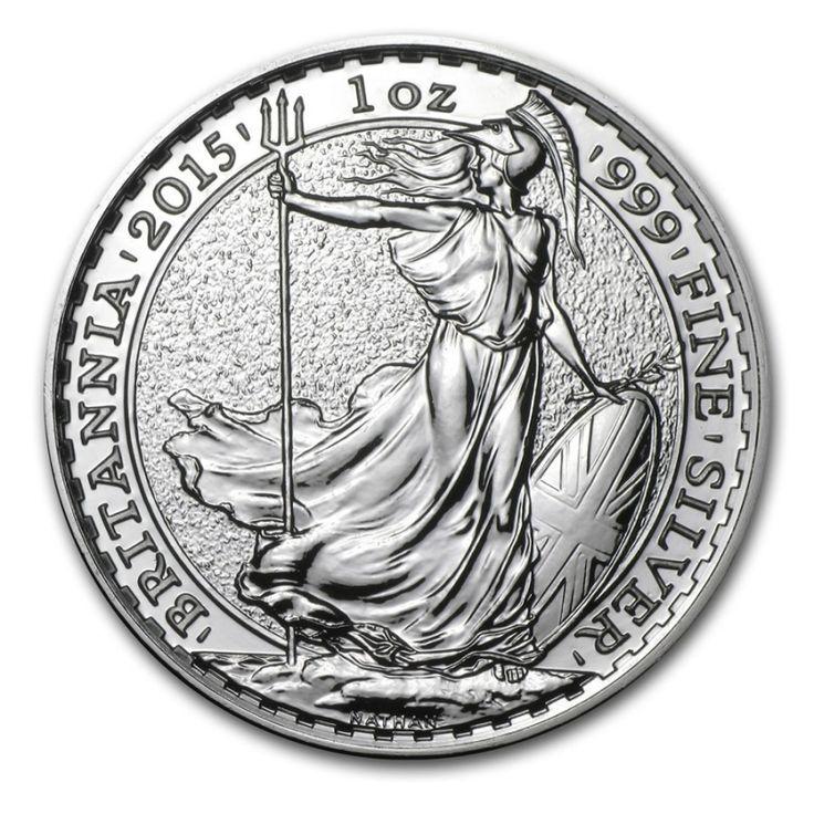 1 oz 2015 Britannia Silver Coin 999 Obverse