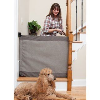 Shop for The Stair Barrier Modern Grey Wall to Banister Signature Gate. Get free delivery at Overstock.com - Your Online Health & Child Safety Shop! Get 5% in rewards with Club O! - 21223728