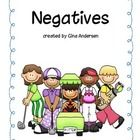 This packet includes a poster on Negatives, correct or incorrect response cards with sentences to use with these cards.  This could also be used as...