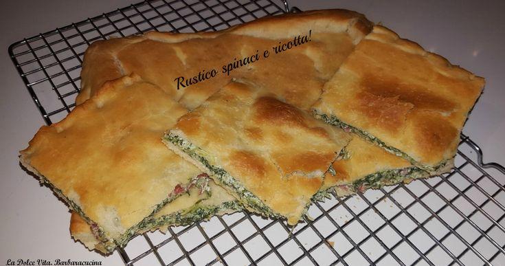 Rustico con #spinaci, #ricotta e #salame!
