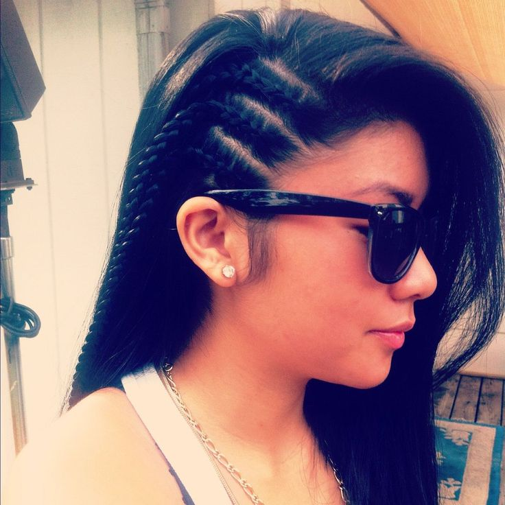 Brilliant 1000 Ideas About Side Cornrows On Pinterest Cornrow Styles For Hairstyles For Women Draintrainus