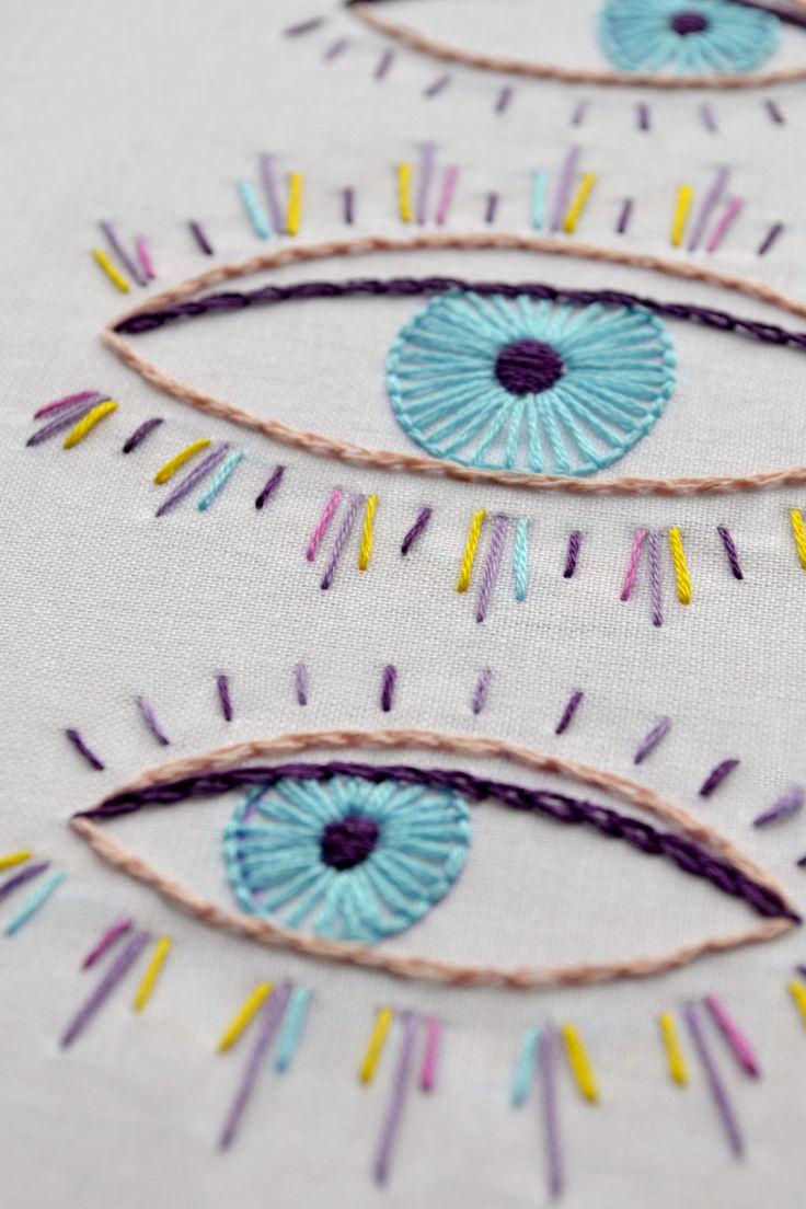 Evil eye, embroidery design, PDF pattern