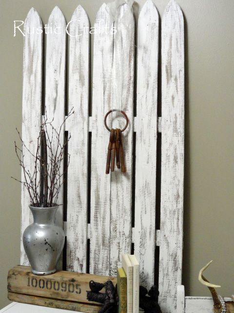 pictures of fencing made into crafts   Easy Shabby Chic Decorating Ideas   Rustic Crafts & Chic Decor