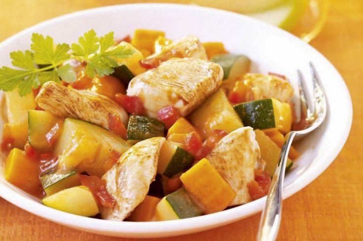 Taijne met kip en groenten
