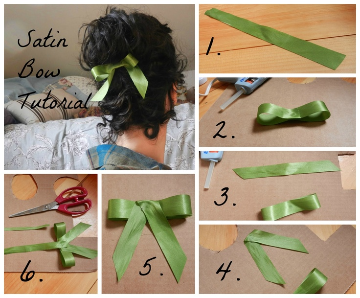 Satin bow tutorial step-by-step how-to