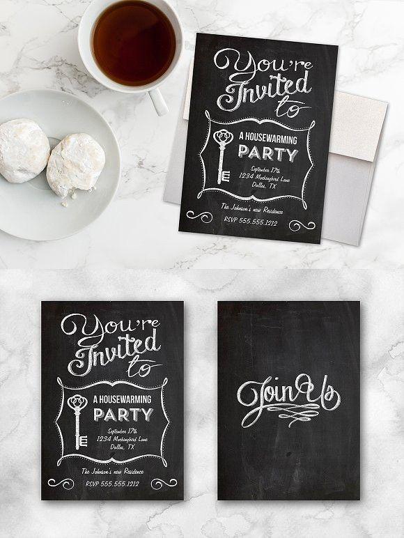 Chalkboard Housewarming Invitation  Housewarming Invitations Templates