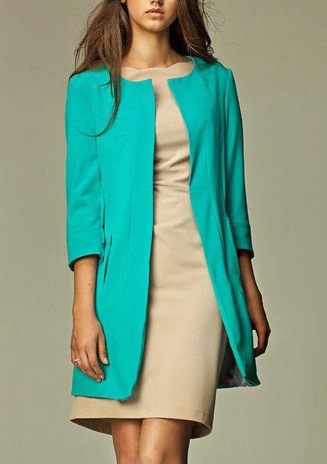 Veste habillee femme turquoise