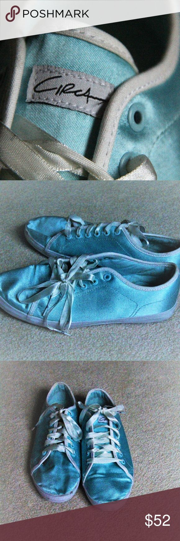 Circa Blue Silk Shoes These rare blue silk shoes are a gorgeous and stylish fashion piece! Feature cream silk laces. Beautiful for summer weather! In good condition. Size 8. Circa Shoes Sneakers