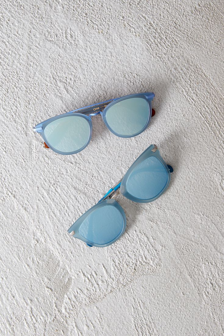Add a pop of color to your look with TOMS powder blue sunglasses.