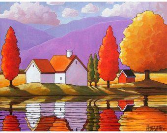 PAINTING ORIGINAL by Cathy Horvath Purple door SoloWorkStudio