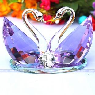 Swarovski Crystal Figurines | Description :Name: Swarovski Crystal Swan Figurines Wedding Gifts Home ...