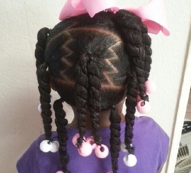 Peachy 1000 Images About Natural Kids Pig Ponytails On Pinterest Two Short Hairstyles For Black Women Fulllsitofus