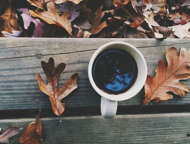 A black coffee to warm you up the the morning