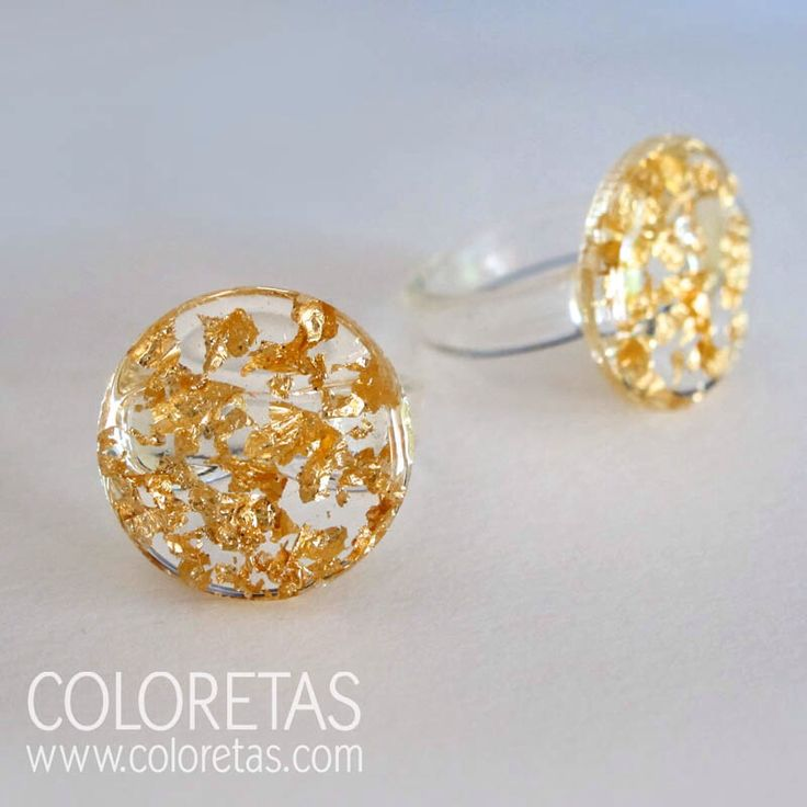 Golden Flakes mini ring  available in three measures (L,M,S)