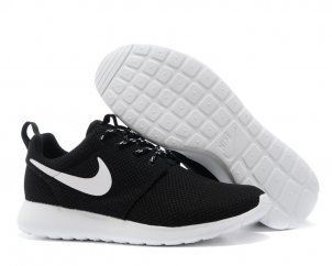 Nike Roshe Run Womens Black White Mesh shoes [#N4756]$19!!!!!