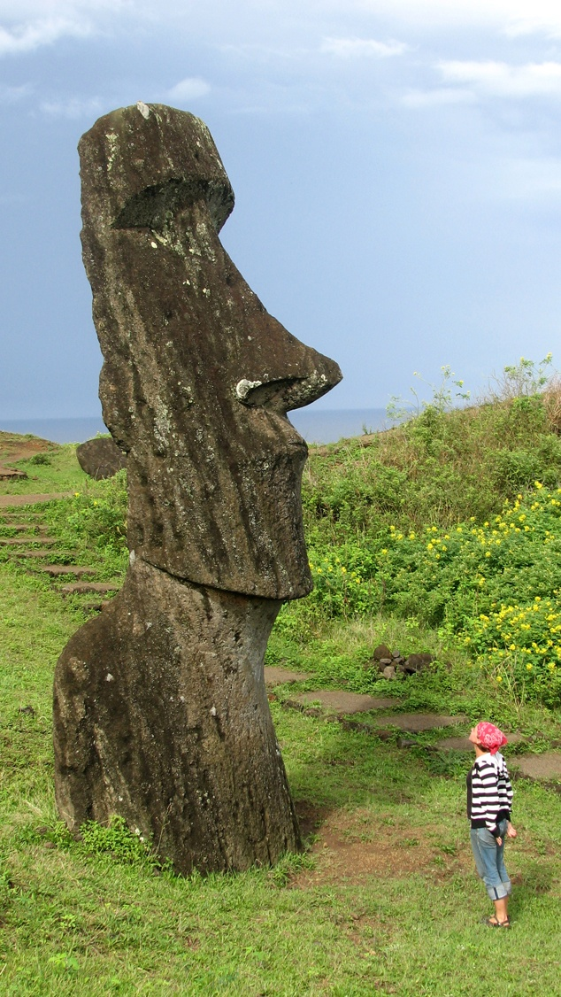 Another Easter Island self portrait; not sure what he's thinking..... #greatwalker