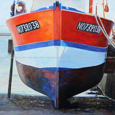 Tableau, bateau, pêche, coque... #Art #Artiste