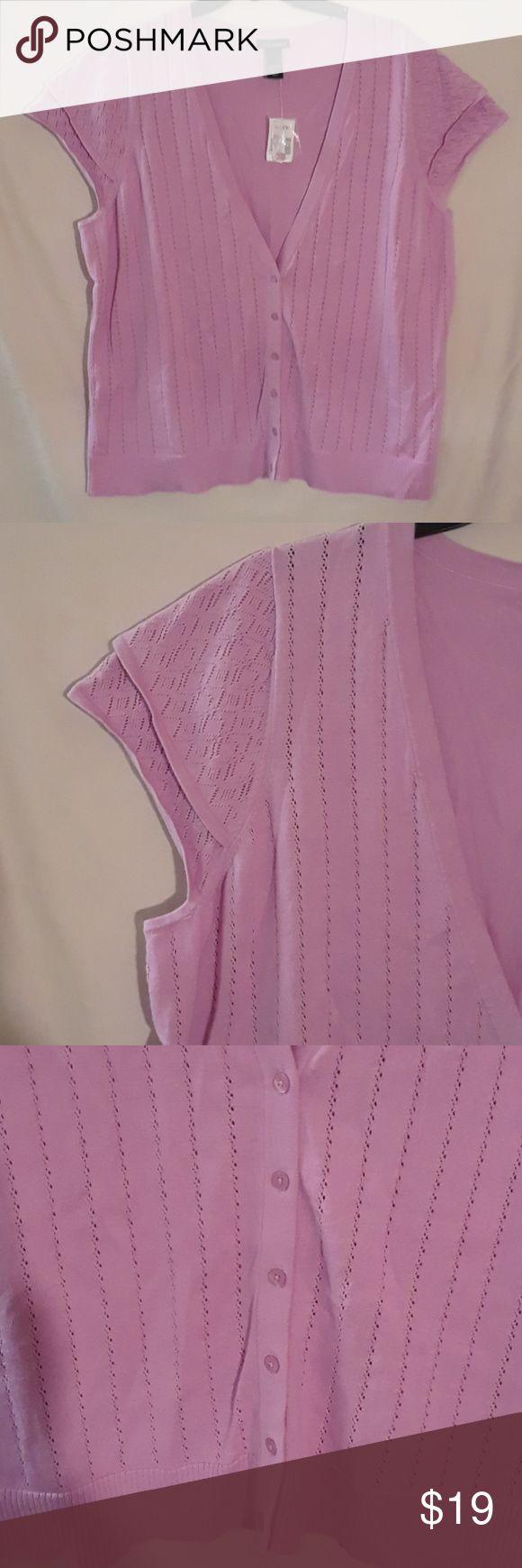 Short sleeve Cardigan Pink Short sleeve Cardigan Lane Bryant Sweaters Cardigans