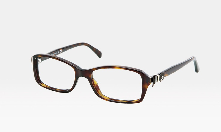 chanel bow tortoise eye glasses eyewear