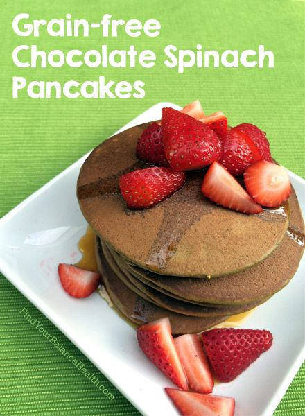 Chocolate Spinach Pancakes Recipe (Just 5 Ingredients!) | Find Your Balance with Michelle Pfennighaus