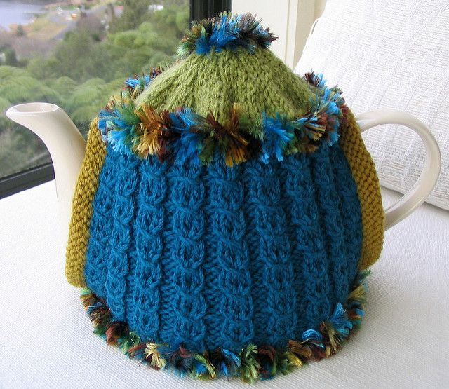 Jillybeanknit's Funky Tea Cosies