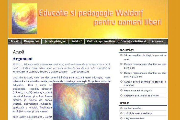 Educatie si pedagogie Waldorf pentru oameni liberi