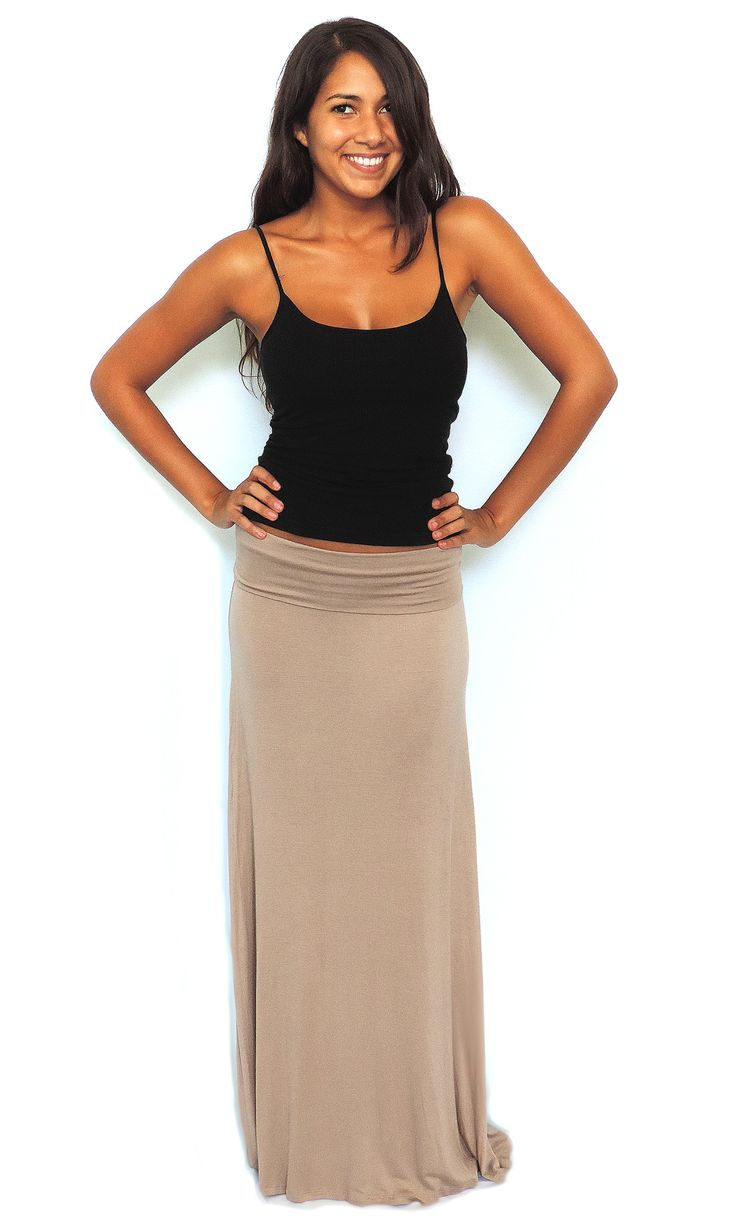 Knit Maxi Skirt - Taupe