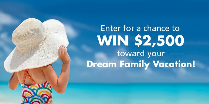 Enter NOW and you could WIN $2,500 towards your dream family vacation from TravelAlerts