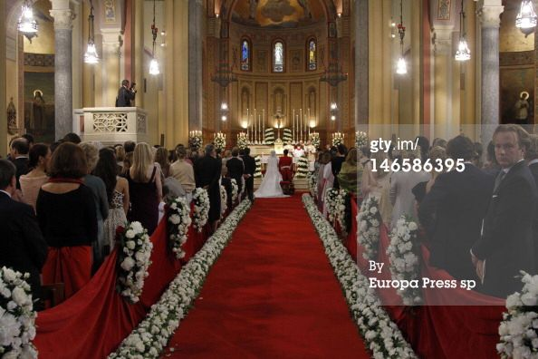 Fabrizia Ruffo Di Calabria and Borja Benjumea de Soto get married on June 9, 2012 in Como, Italy. (