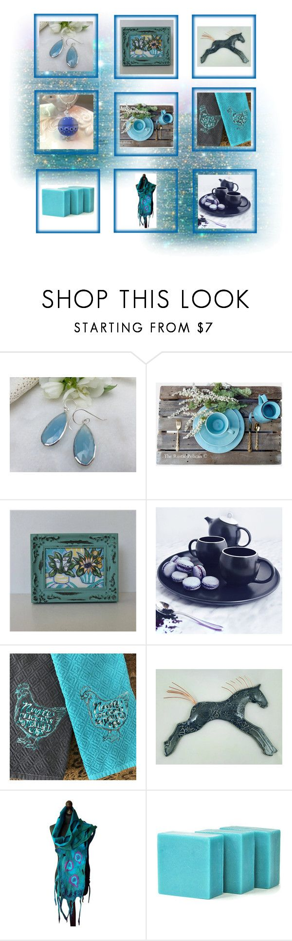 """""""Blue Gifts"""" by keepsakedesignbycmm ❤ liked on Polyvore featuring Rustico, etsy, jewelry, accessories and decor"""