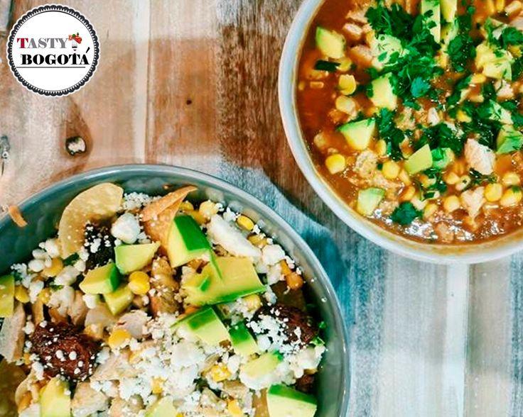 Sopa mexicana y ensalada al gusto Pecaminosas