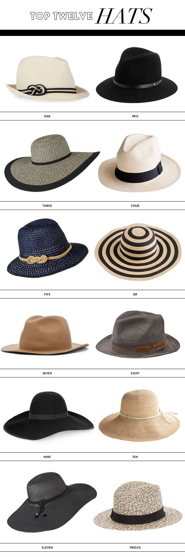 Our picks? Two, Seven, Eight and Nine.  What's yours? #Hats #Accents #Style