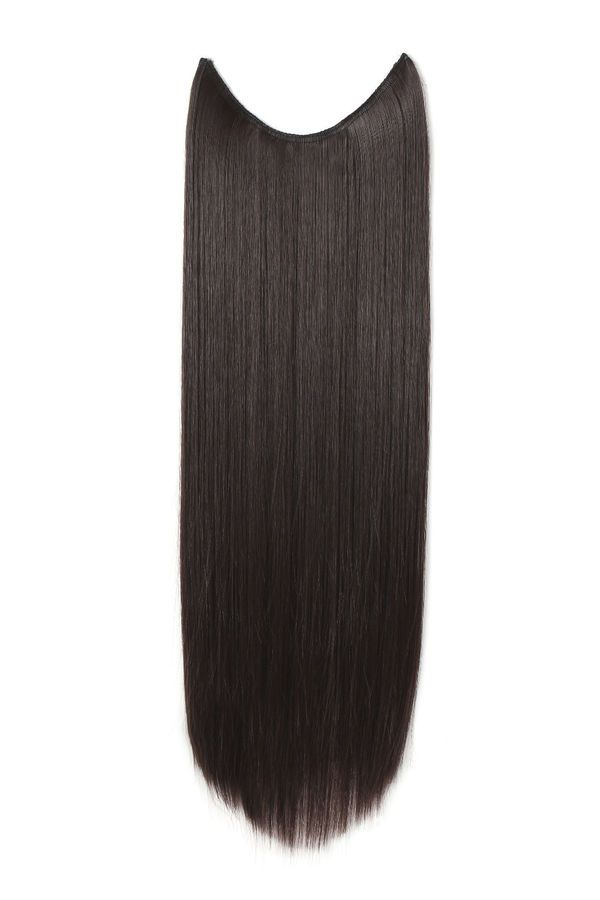 Onedor 20 24 Curly Striaght Synthetic Hair Extensions Transparent Wire No Clip Hair Extension Care Hair Extensions Best Synthetic Hair Extensions