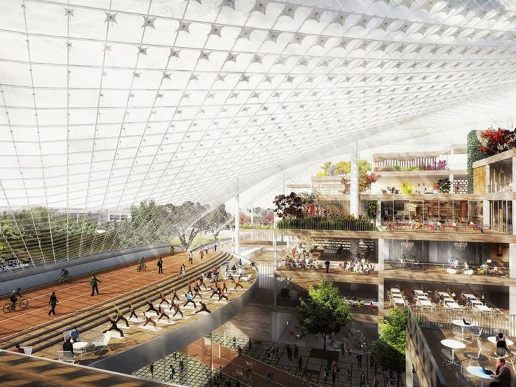 2015 Your First Look at Google's Re-configurable, See-Through HQ | WIRED 2015 Original Design...  Commune with Nature!