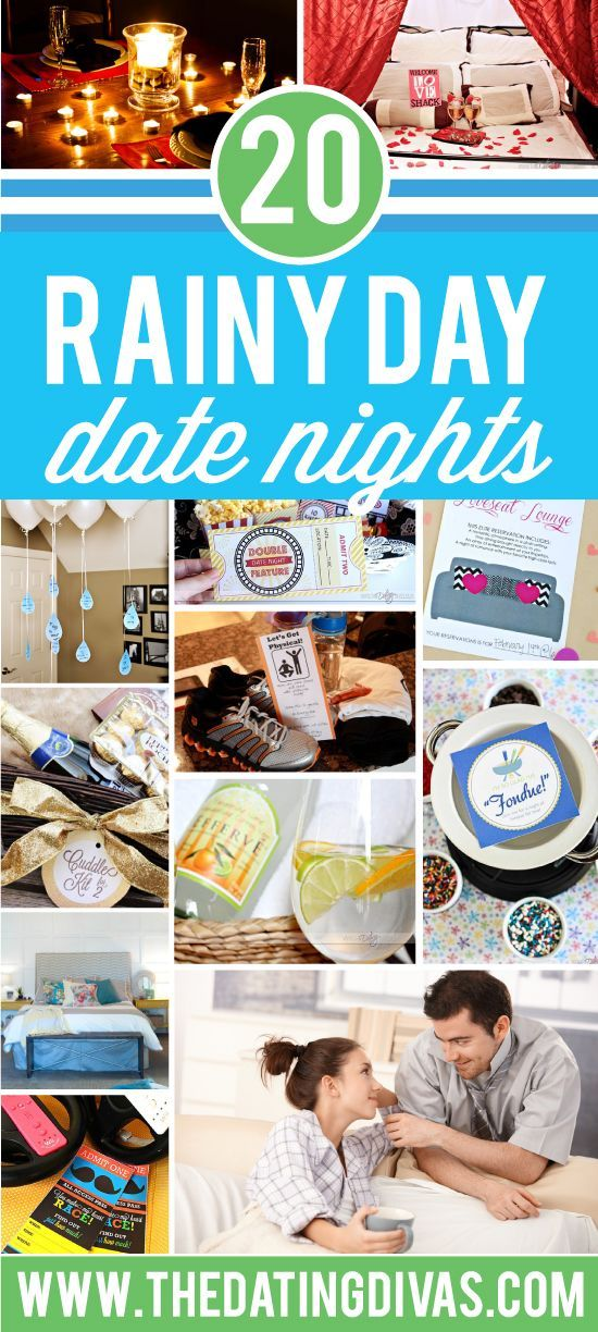 Rain keeping you in? I love ALL of these indoor date night ideas! www.TheDatingDiva...