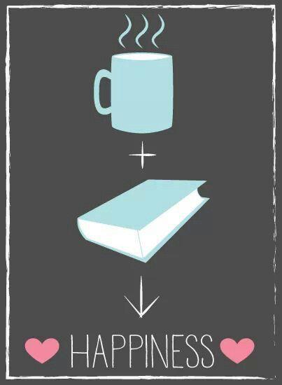 Café + Livro = Felicidade