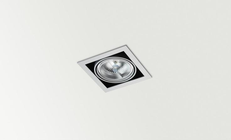 ORBITAL x1, QR, LED ó CDMR - Halogen, LED or metal halide luminaire. Ceiling downlight (Ceiling Recessed).