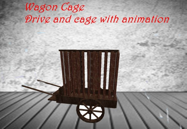 cage wagon  driving with animatios in cage