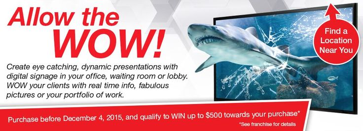 Our newest Speedpro Canada national campaign!  See your local Speedpro today for more information!