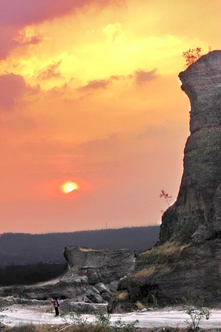 The Sunset from brown canyon semarang indonesia.