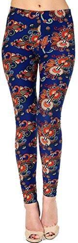 Womens Girls Leggings Lush Moda Extra Soft Leggings with Tribal Designs Variety of Prints