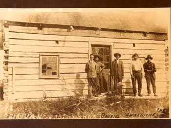 Atikamekw men at Obedjiwan, Quebec - circa 1916